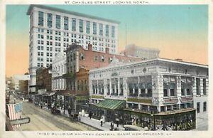 LA Louisiana New Orleans St Charles Street Kress & Co ca 1915 Postcard