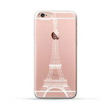 Ultra Case Paris eiffel tower Skyline View Rubber Clear Case Cover for iPhone