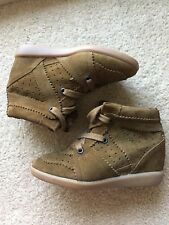Authentic ISABEL MARANT Bobby Wedge Sneakers, Camel Color Sz 36/6 $655 MINT