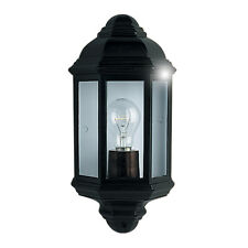 Searchlight 280bk Black Cast Aluminium Outdoor/Porch Wall Light IP44