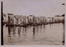 FRANCE Belle-Île-en-Mer Bateaux Voiles Palais Vintage Citrate ca 1900