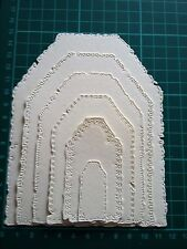Tattered Lace Large Layering Tag Die Cuts - WHITE - NOT THE DIES