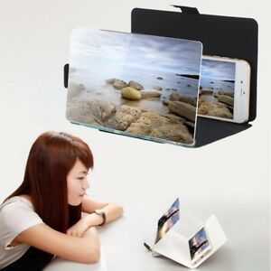 Mobile Phone Screen Magnifier HD Portable Folding Enlarged Expander Stand Holder