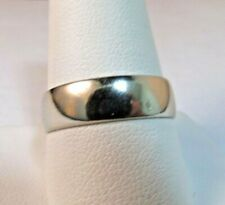14K Solid WHITE Gold Wedding Ring, Band . Size:10x5mm   SALE-SAVE $600.    #81