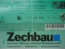 TICKET 1998/99 SV Werder Bremen - Mönchengladbach