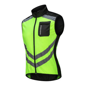 Cycling Vest Running Safety Sleeveless Bicycle Riding Waistcoat Back Pocket