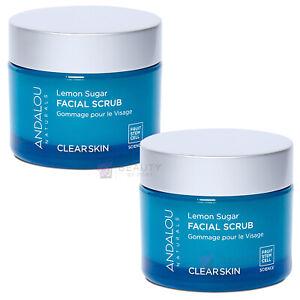 Andalou Naturals Facial Scrub Lemon Sugar Clarifying, 1.7 Oz (50 G) PACK OF 2