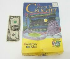 Learn To Crochet Starter Kit Age 8 and Above - With Yarn Needles and Instruction