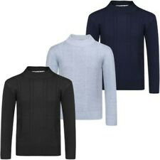 Boys Cable Knitted Pullover Jumper Kids Sweater Long Sleeve Knit Top 3-12 Years
