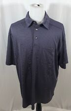770838088 Roundtree and York Men s 2XT Work Play Purple Striped Short Sleeve Polo  Shirt