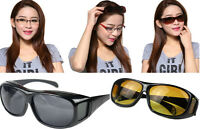 HD Night Vision Driving Sunglasses Nice Over Wrap Around Unisex Glasses Cool NEW