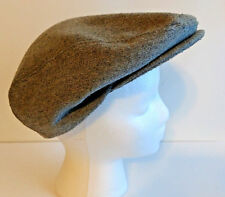 MENS HAT Cap Newsboy Cabbie Size M Medium Gray Grey Snap On Brim Unbranded