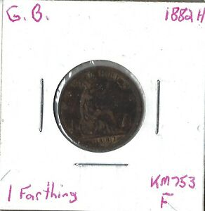 Coin Great Britain 1 Farthing 1882 H, KM753, Combined shipping
