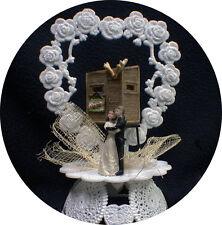"""Lets Hunt""  HUNTING DEER Bride & Groom top Wedding Cake Topper funny Outdoor"