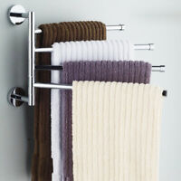 Stainless Steel Bar Rotating Towel Rack Bathroom Kitchen Wall-mounted Polished