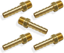 Hose Barb Fittings 1/4-Inch Male Thread Air Fitting Adapter Accessories 5 Pack