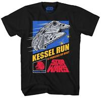 Star Wars Millennium Falcon Kessel Run Fun Humor Pun Mens Adult T-shirt Tee Solo