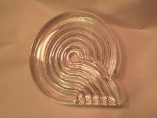 """Rosenthal Studio Linie NATALE SAPONE Art Glass Ashtray ABSTRACT Spiral ca1980 6"""""""