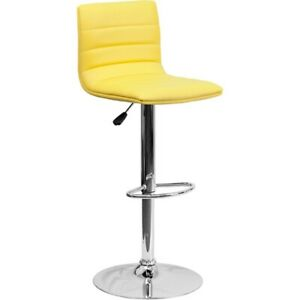 Flash Furniture Yellow Contemporary Barstool, Yellow - CH-92023-1-YEL-GG