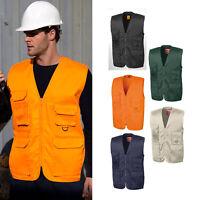 Result Work-Guard Men's Adventure Safari Waistcoat (R045X)-PPE Gillet Bodywarmer