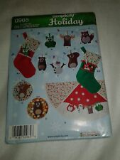 New Simplicity Holiday 0965 UNCUT Tree Skirt Stocking Ornament Wall Hanging
