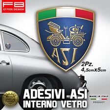 Adesivi Stickers ASI Interno Vetro Auto Storiche Rally Old Fiat 500 Lancia Alfa