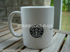 STARBUCKS RARE BLACK MERMAID LOGO ONE PARTNER ONE CUSTOMER ONE CUP AT A TIME MUG