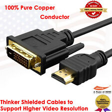 Gold Plated HDMI to DVI Adapter Cable - 4.6 Meters / 15 Feet , 100% Pure Copper