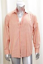 HUGO BOSS Orange Stripe Button Down Dress Shirt sz.L