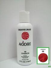 CREATIVE IMAGE ADORE SEMI PERMANENT HAIR COLOR #68 CRIMSON 4oz
