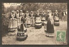 CPA CARTE POSTALE CARD FRANCE FRANKREICH COSTUMES BRETONS JUCH ANIMEE BZH BREIZH