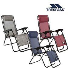 Trespass Folding Reclining Garden Patio Sun Lounger Chair