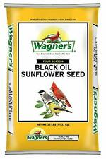 25 Lb Wagners Four Season Thin Shelled Black Oil Sunflower Seeds For Wild Birds