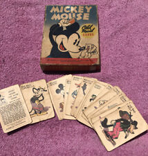 Mickey Mouse Walt Disney Old Maid Cards Complete Set Original Box 1935 Whitman