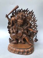 Chinese Antique Boxwood Hand carved Buddha statue Home Decoration