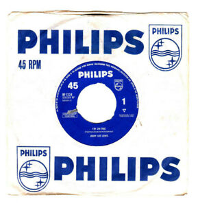 """JERRY LEE LEWIS.I'M ON FIRE / BREAD AND BUTTER MAN.UK ORIG 7"""" & CO/SL.VG"""