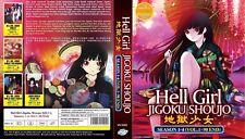 ANIME DVD~Hell Girl Season 1-4(1-90End)English sub&All region FREE SHIPPING+GIFT