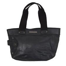 Mandarina Duck Handtasche Leder Leather Schwarz Black Schultertasche Purse Shabb