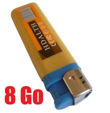 Briquet caméra espion détecteur sonore + carte micro SD 8 Go