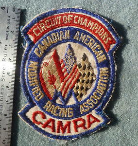 Vintage CAMRA Canadian American Modified Racing Patch Open Wheel Race Car