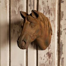 Horse Head Wall Mount Stone Sculpture