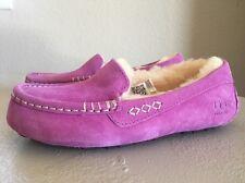 UGG Australia Women's Ansley Stitch Detailed Moccasin -Cactus Flower/Pink Sz 5
