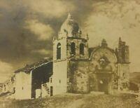 Carmel Mission CA Real Postcard RPPC Roman Catholic Church Pre Restoration