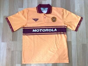 Motherwell F.C. FC 42/44 XL 1994 1996 Pony Motorola orange Shirt Jersey P156