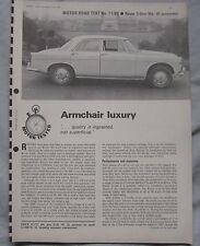 1966 Rover 3-litre MkIII automatic Original Motor magazine Road test