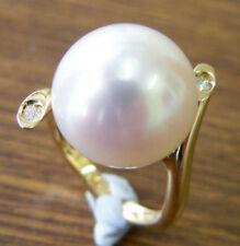 Anelli di lusso con perle coltivate in oro giallo 18 carati