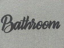 BATHROOM Wall Word Door Sign Art Decor Wall Hanging
