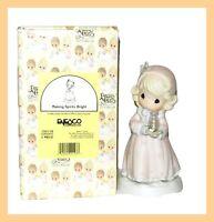 "PRECIOUS MOMENTS 1995 Christmas ENESCO 150118 figurine ""Making Spirits Bright"""
