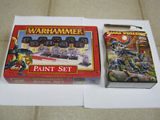 Warhammer Lizardmen Paint Set & Ft02 Swamp Monsters, 1998 & 2000, with boxes!
