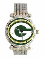 NFL Green Bay Packers Watch Women's Rhinestone Stainless Steel Band